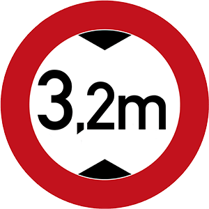 Maximale Durchfahrtshöhe: 3,2m